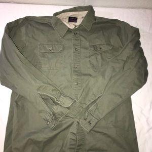 Men's wrangler button up shirt